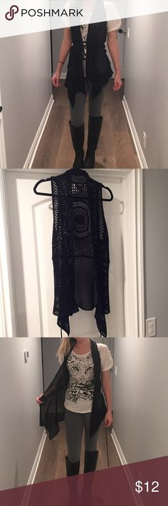 Knit Vest Loosely fit knit vest. Very stylish and can be dressed up or down. Worn once and in new condition. Neu Look Sweaters Cardigans