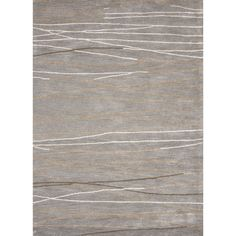 Jaipur Rugs Modern Abstract Pattern Gray/Ivory Wool and Art Silk Area Rug BQ12 (Rectangle)