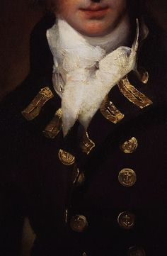 Sir Graham Moore by Sir Thomas Lawrence (Detail) oil on canvas, exhibited 1792, National Portrait Gallery, London.