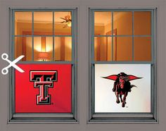 Texas Tech Red Raiders Window Poster House Decoration, great for a dorm, frat house or living room window!