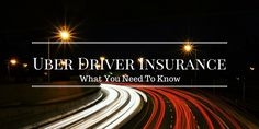 For Potential Uber Drivers.. Here Is  A Good Post About The Insurance You Will Need