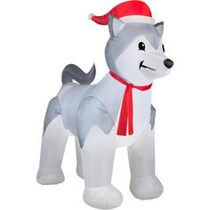 9 airblown inflatable husky christmas inflatable walmartcom halloween christmas christmas yard - Walmart Christmas Yard Decorations