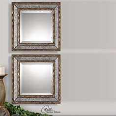 Uttermost Norlina Mirror Squares Set of 2 * Click on the image for additional details.