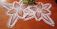 2 Crocheted Doilies Vintage Doily White