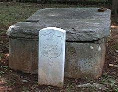 Chief Path Killer gravesite.  Cherokee Indian Chief.  New Echota Cemetery, Calhoun, Gorgon, Georgia.  Photo by: Iktomi - Find A Grave contributor and volunteer