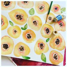 PEACHY KEEN 🍑🍑🍑 #igart #instaart #art #doodle #pattern #textiles #interiors #interiordesign #graphics #drawing #handdrawn #fabric #nature #beauty #penandink #sketch #artist #design #illustration #watercolour #details #original #colour #style #paint #instagood #london #fruit #limitededition