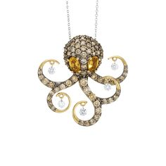 Vega Pendant - the octopus - Ponte Vecchio Gioielli Fisher, Octopus Jewelry, Top Luxury Brands, Fire Heart, Luxury Jewelry, Diamond Jewelry, Best Gifts, Fine Jewelry, Jewels