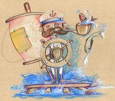 Capitan - Summer-Illustration