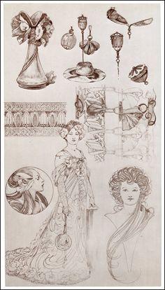 Documents Decoratifs by Alphonse Mucha