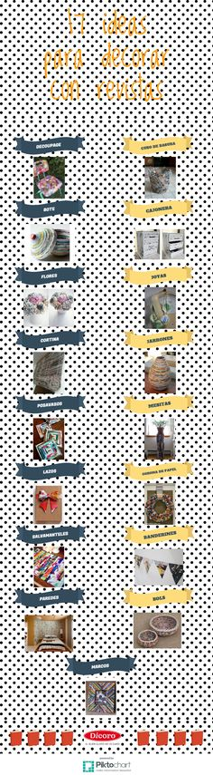 ▷ ✅Decorar con revistas 【TOP 2019】 Infographic, Calendar, Holiday Decor, Environment, Crafts, Crochet, Home Decor, Jalousies, Recycled Crafts