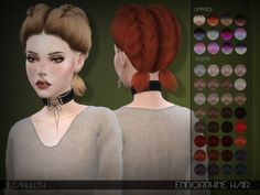 The Sims Resource: LeahLillith Endorphine Hair • Sims 4 Downloads