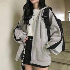 Teen Fashion Outfits, Edgy Outfits, Cute Casual Outfits, Korean Outfits, Mode Outfits, Retro Outfits, Casual Dresses For Women, Korean Dress, Casual Skirts