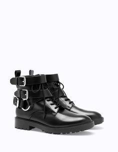 Рокерские ботинки с пряжками - Все | Stradivarius Россия