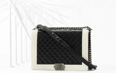 Chanel Two Tone Black and White Boy Bag - Spring 2013