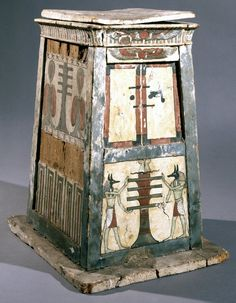 Decorated wooden shabti-box. Ptolemaic p., Egypt. British Museum, Online Collection.