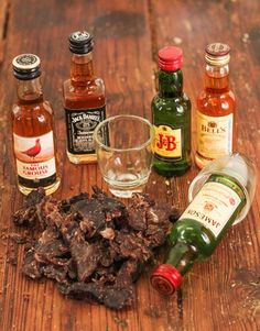 Assorted Mini Whiskey Bottles with Biltong Same Day Delivery Service, Biltong, Alcohol Gifts, Whiskey Bottle, Christmas Gifts, Beef, Treats, Hampers, Snacks