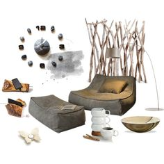 Relax by sognoametista on Polyvore featuring interior, interiors, interior design, home, home decor, interior decorating, Thos. Baker and Nambé