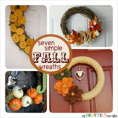 Seven Simple Fall Wreaths..perfect fall craft to do with my residents