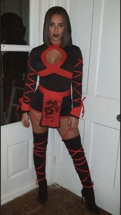 Georgia May Foote Ninja Halloween Costume, Halloween Costumes For Teens, Costumes For Women, Halloween 2020, Diy Costumes, Diy Halloween, Curvy Women Outfits, Sexy Outfits, Georgia May Foote