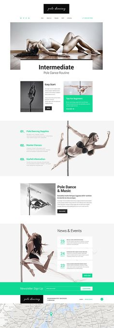 Pole-Dance-Website Vorlage #html #javascript