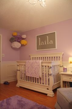 Suzani in Wisteria Custom Crib Bedding--YOU DESIGN, I CREATE. via Etsy.
