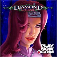 Featuring the Mystical Diamond bonus where reels go wild when you play Diamond Queen at PlayNow.com