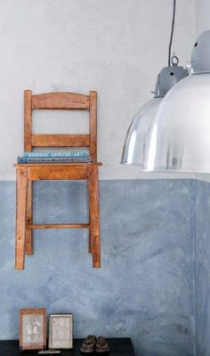 Good idea for my studio--seating for when people come over, book holder when alone.