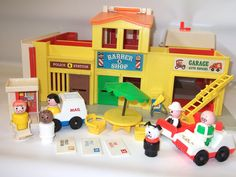 My sister had this and still does! The best part was the mail truck and the mail you could deliver to the businesses.