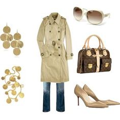 trench outfit