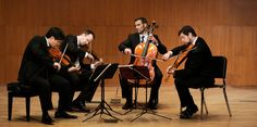 """Hailed by the New York Times as possessing """"explosive vigor and technical finesse"""", the dynamic Miró Quartet, one of America's highest-profile chamber groups enjoys its place at the top of the international chamber music scene."""