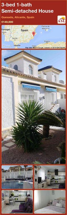 3-bed 1-bath Semi-detached House in Quesada, Alicante, Spain ►€149,000 #PropertyForSaleInSpain
