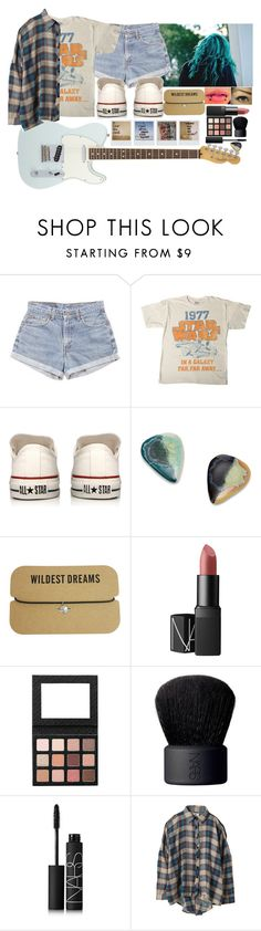 """""""[Concert w/ the girls in Mexico]"""" by purplemonkeys005 ❤ liked on Polyvore featuring American Standard, Levi's, Converse, NARS Cosmetics, UNIF, Polaroid and mandy"""