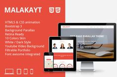 Malakayt One Page Bootstrap Template by mosaixel on @creativework247