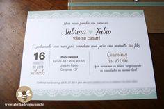 Convite Rústico Chic | Abelha Design - Convites de casamento