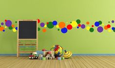 Create-A-Mural - Primary Wall Dot Decals, $47.99 (http://www.create-a-mural.com/products/primary-wall-dot-decals.html)