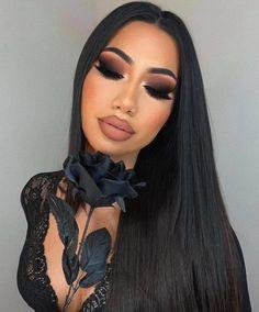 Pretty Makeup Looks, Makeup Eye Looks, Beautiful Eye Makeup, Flawless Makeup, Black Makeup Looks, Seductive Makeup, Glam Makeup Look, Glamour Makeup, Cute Makeup