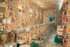 Design By Ken Scott's Eats and Drinks restaurant in Milan, 1969 via Elledecor.com