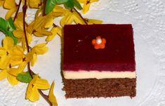 Glazovaný koláč so smotanovou plnkou (fotorecept)