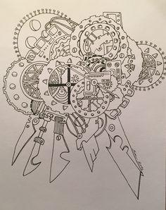 Zentangle /paint / clock / time