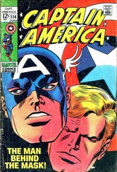 Captain America cover art by John Romita Sr.