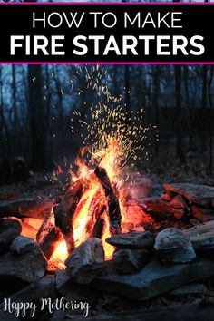 Learn how to make the best homemade fire starters four ways with natural items from around your house. Easy DIY ideas for making fires over the summer in the campfire ring or fire pit on family camping trips or in the fireplace over the cold winter. All you need to make your own are common things like egg cartons, dryer lint, toilet paper rolls, sawdust, etc. #diy #howto #firestarters #campfire #fireplace #doityourself #makeityourself #easycrafts #homemaking #campingideas #summer #camping… Diy Camping, Family Camping, Homemade Fire Starters, Campfire Ring, Types Of Wax, Old Candles, How To Make Fire, Egg Cartons, Old Newspaper