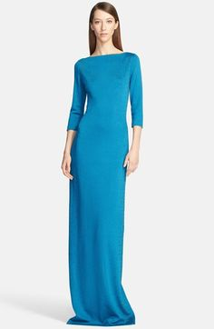 St. John Collection Micro Sequin Shimmer Knit Milano Gown available at #Nordstrom