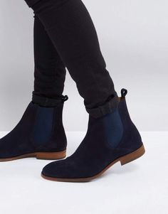 5f9a88929c4d Zign Suede Chelsea Boots In Navy
