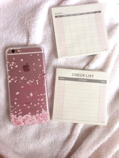 Sakura Cherry Blossom Phone Case Iphone & Month & Daily Planner - Organizers