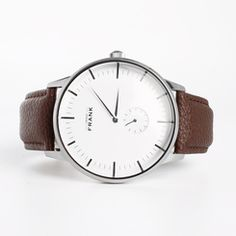 Aberdeen White Leather Watch
