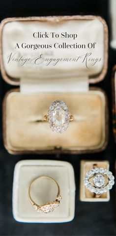 The variety in Vintage Engagement Rings never ceases to amaze! The rings are always beautifully handcrafted with so much character and beauty to them!