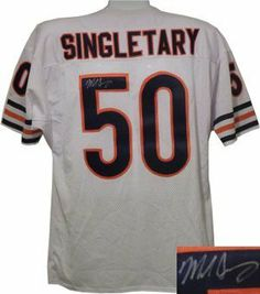 7a2f982b206 Mike Singletary signed Chicago Bears White Prostyle Jersey . $261.63. Mike  Singletary spent his entire