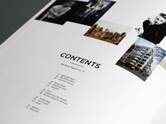 The Vision magazine contents page