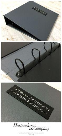 A surgical Portfolio ring binder.