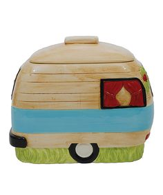 Another great find on #zulily! Camper Ceramic Cookie Jar by Creative Co-Op #zulilyfinds